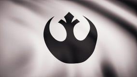 Star Wars-Rebell-Alliance-Symbol auf Flagge Das Krieg der Sternes-Thema Gebrauch des Leitartikels nur stock abbildung