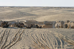 Star Wars scenerii Ong Jemel blisko Nefta Tunezja Obraz Royalty Free