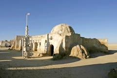 Star Wars scenerii Ong Jemel blisko Nefta Tunezja Zdjęcia Royalty Free