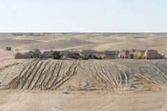 Star Wars scenerii Ong Jemel blisko Nefta Tunezja z niewiadomym piaskiem Fotografia Royalty Free