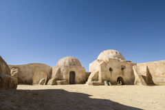 Star Wars Set. A set for the Star Wars movie still stands in the Tunisian desert near Tozeur Stock Photography