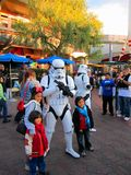 Star wars soldier with childrens  at Disneyland, Los Angeles Stock Photography