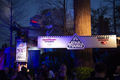 Star Wars, Disney World, Travel, Hollywood Studios. Star Wars Star Tours ride in Hollywood Studios in Walt Disney World outside of Orlando, FL. Florida is a stock photos