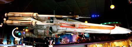 Star Wars stjärnakämpe Jet Disneyland royaltyfri fotografi