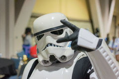 Star Wars Storm Trooper costume royalty free stock photo