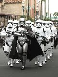 Star wars storm troopers on parade at Walt Disney World Florida. Star wars storm troopers at Hollywood studios at Disney world Orlando Florida stock image
