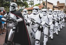 Star wars storm troopers on parade at Walt Disney World Florida. Star wars storm troopers at Hollywood studios at Disney world Orlando Florida Stock Photo