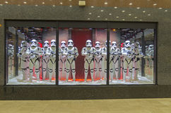 Star Wars storm troopers in a showcase. Paris. Stock Image