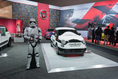Star Wars Stormtrooper Fiat 500e Royalty Free Stock Photography