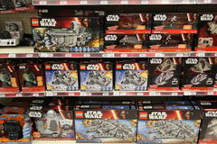 Star Wars Toy Display for Force Friday Royalty Free Stock Image