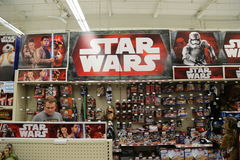 Star Wars Toy Display for Force Friday Royalty Free Stock Images