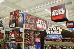 Star Wars Toy Display for Force Friday Stock Photo