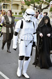 Star Wars Trooper. Star Wars characters. Taking part in the Geelong Hospitals, in the state of Victoria Australia. Gala Day parade and fundraiser. Now in its Stock Photos