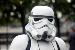 Star wars trooper: cosplay festival in Moscow royalty free stock photos