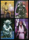 Star Wars US Postage Stamps Stock Image