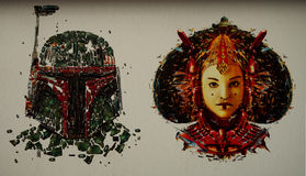 Star Wars väggmosaik royaltyfri fotografi