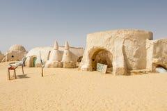 Star Wars velho ajustou a construção no deserto de Sahara em Tunísia fotos de stock