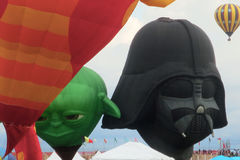 Star Wars Yoda and Darth Vader Hot Air Balloons Stock Photography