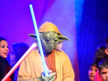Star wars yoda Halloween parade Stock Images
