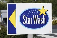 STAR WASH Logo Stock Photo