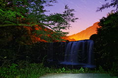 Star and waterfalls and the firefly Royalty Free Stock Photography