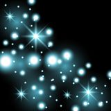 Star way with sparkles, aqua color royalty free illustration