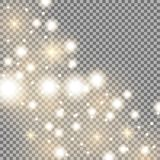 Star way with sparkles, golden color Stock Photos