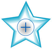 Star web button. Internet design Stock Photography