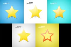 Star web icons Stock Images