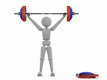 Star weightlifter moment. Stock Photos