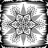 Star white and black illustration Royalty Free Stock Images