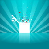Star White Gift Box Royalty Free Stock Image