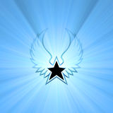 Star wing symbol sun light flares Stock Photography