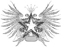 Star & wings emblem Royalty Free Illustration