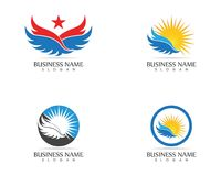 Star wings icon logo design vector.  Royalty Free Stock Images