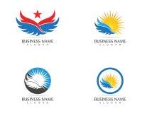 Star wings icon logo design vector.  royalty free illustration
