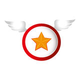 Star with wings icon Royalty Free Stock Photo