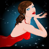 Star woman. Illustration beautiful star woman sexy Royalty Free Stock Photography
