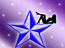 Star woman Royalty Free Stock Images