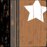 Star on Wood. Old Wooden sign with a star painted on it vector illustration
