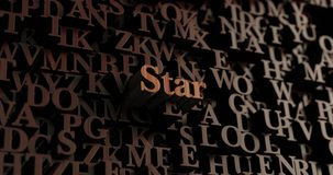 Star - Wooden 3D rendered letters/message Stock Photo