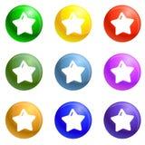 Star xmas icons set vector royalty free illustration