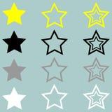Star yellow black grey white icon. The star yellow black grey white icon Royalty Free Stock Images