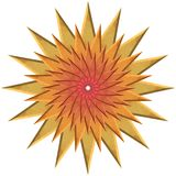 Star yellow and red. Yellow, orange and red ornamental star Stock Photos
