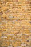 Stara Żółta cegły i moździerza ściana Obrazy Stock