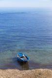 Stara łódź rybacka cumował w Trapani porcie w Sicily, Włochy Zdjęcie Royalty Free