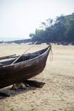 Stara łódź w Agonda, Goa, India Obrazy Stock