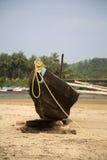 Stara łódź w Agonda, Goa, India Zdjęcie Royalty Free