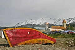 Stara łódź w Ushuaia, Tierra Del Fuego Obraz Stock