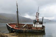 stara łódź wrak Obrazy Royalty Free